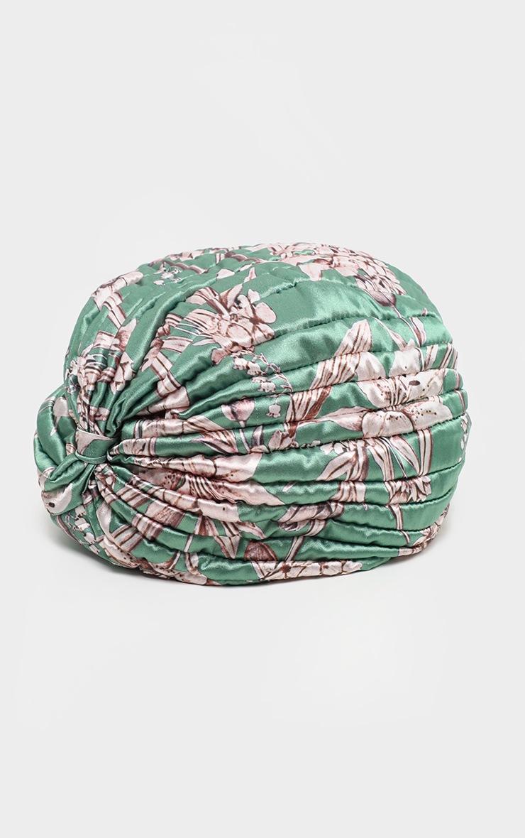 Green Floral Turban 4