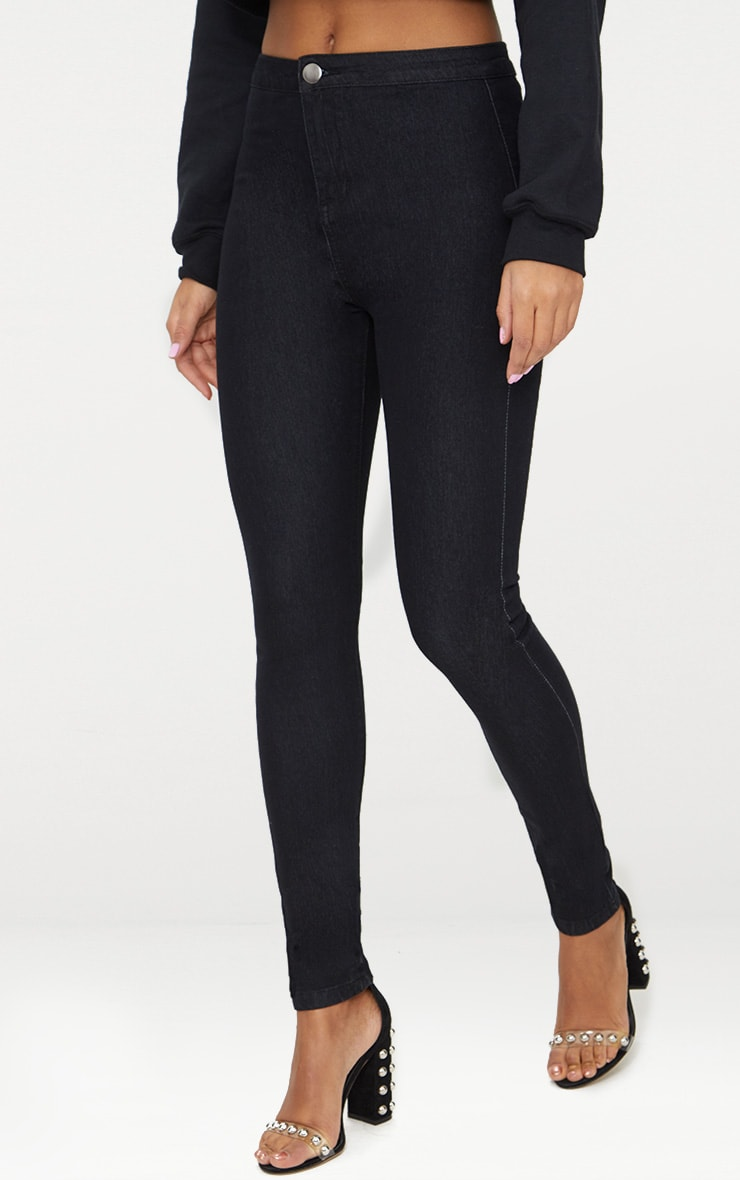 Washed  Black Disco Skinny Jean 2
