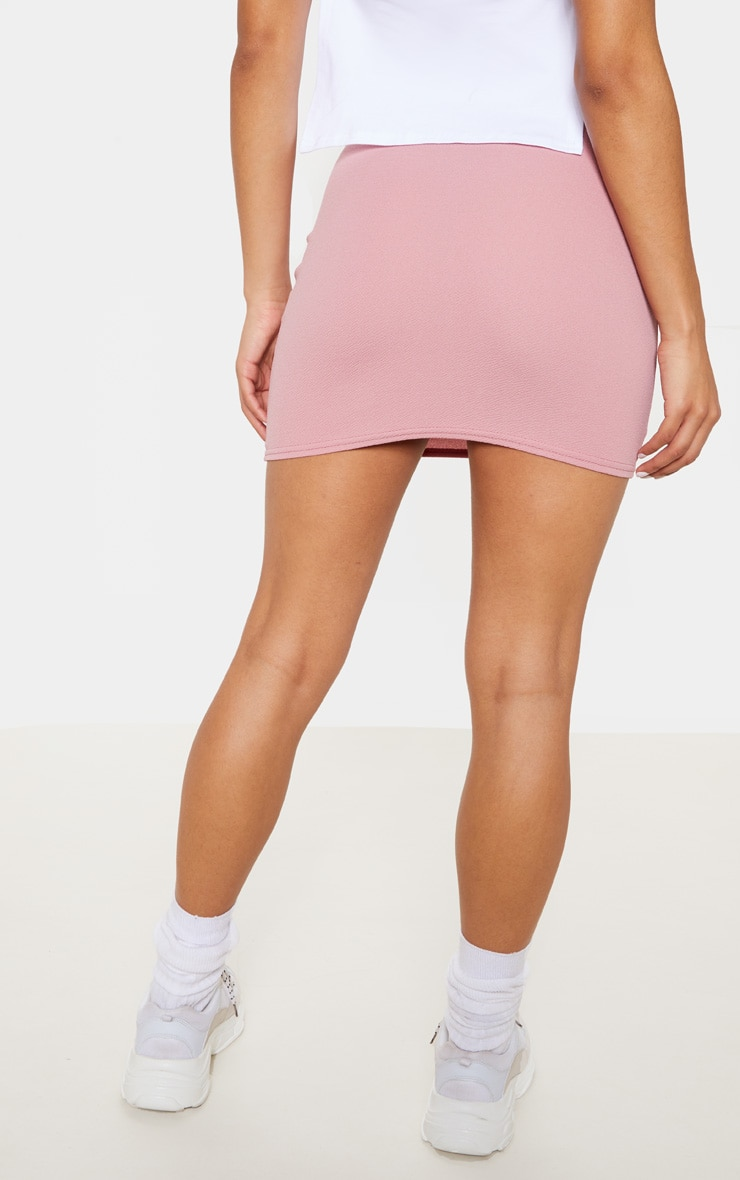 Pink Mini Suit Skirt 4
