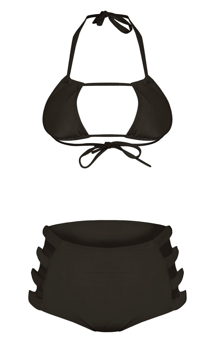 Mai Black High Waisted Cut Out Detail Bikini 3