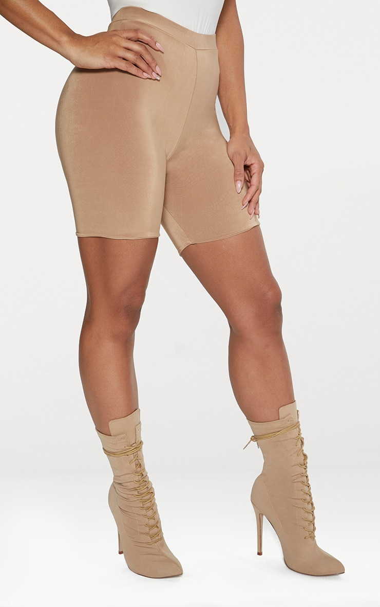 Bella Camel Slinky High Waisted Cycle Shorts 2