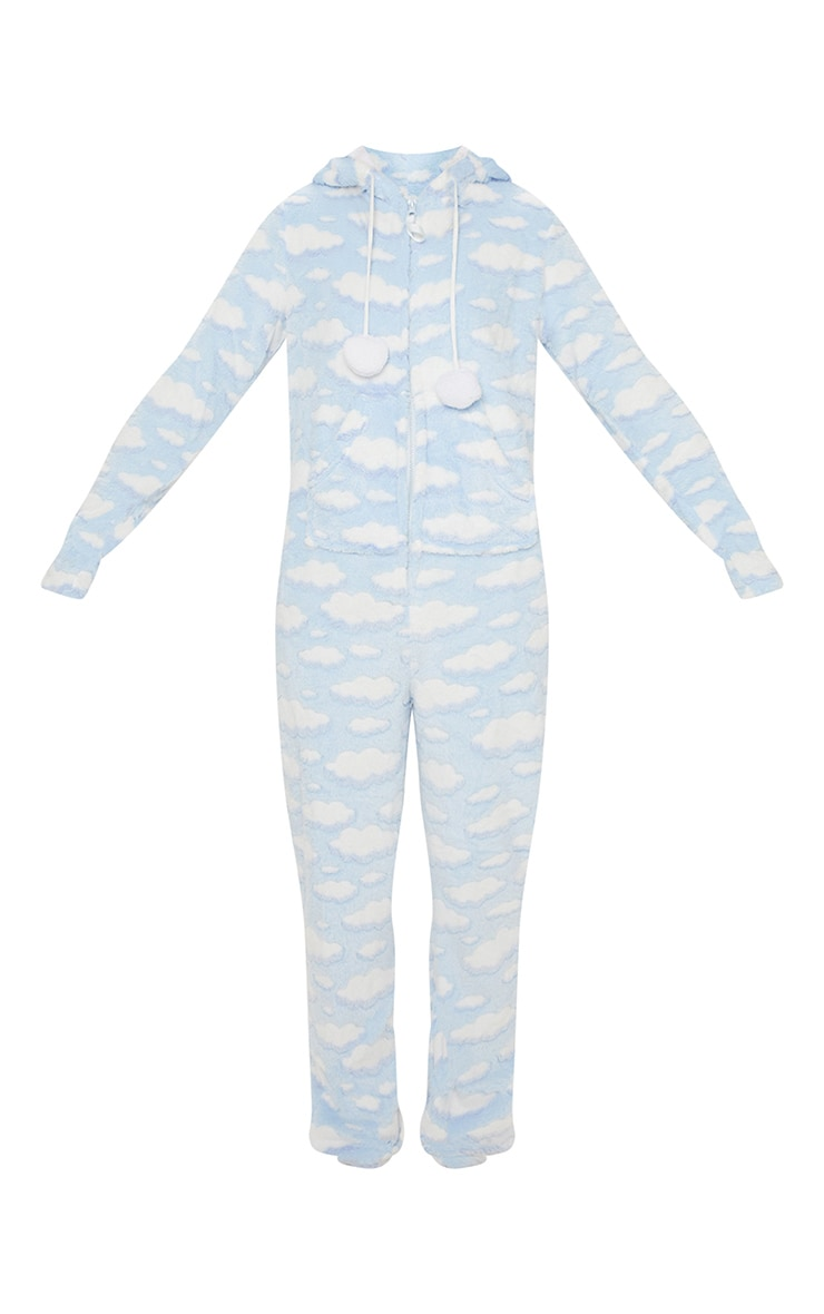Light Blue Cloud Onesie 3