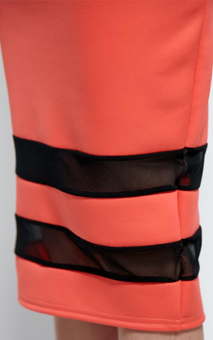 Cassandra Coral Mesh Panel Midi Skirt 5