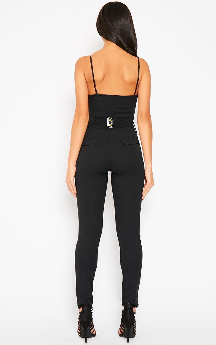 Leoni Black Belted Jumpsuit 2