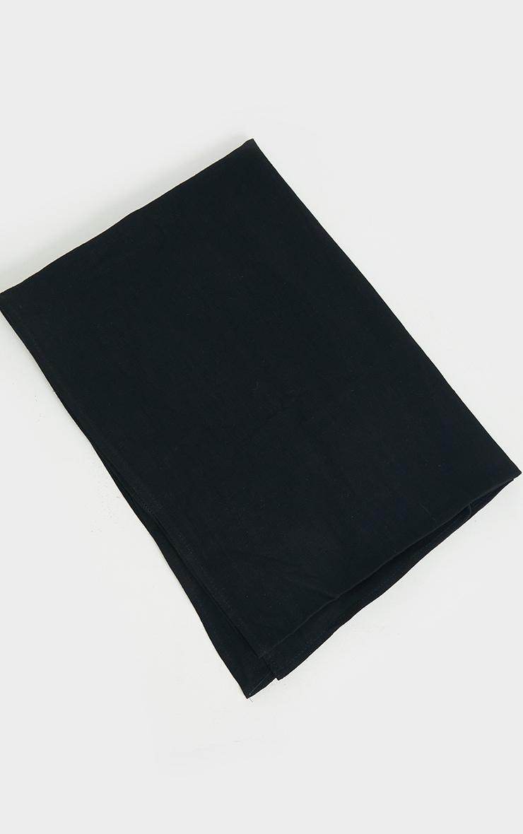 Black Woven Tie Back Head Scarf 3