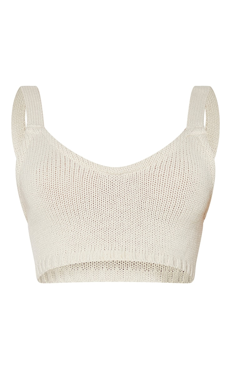 Cream Knitted Strapping Bralet 5