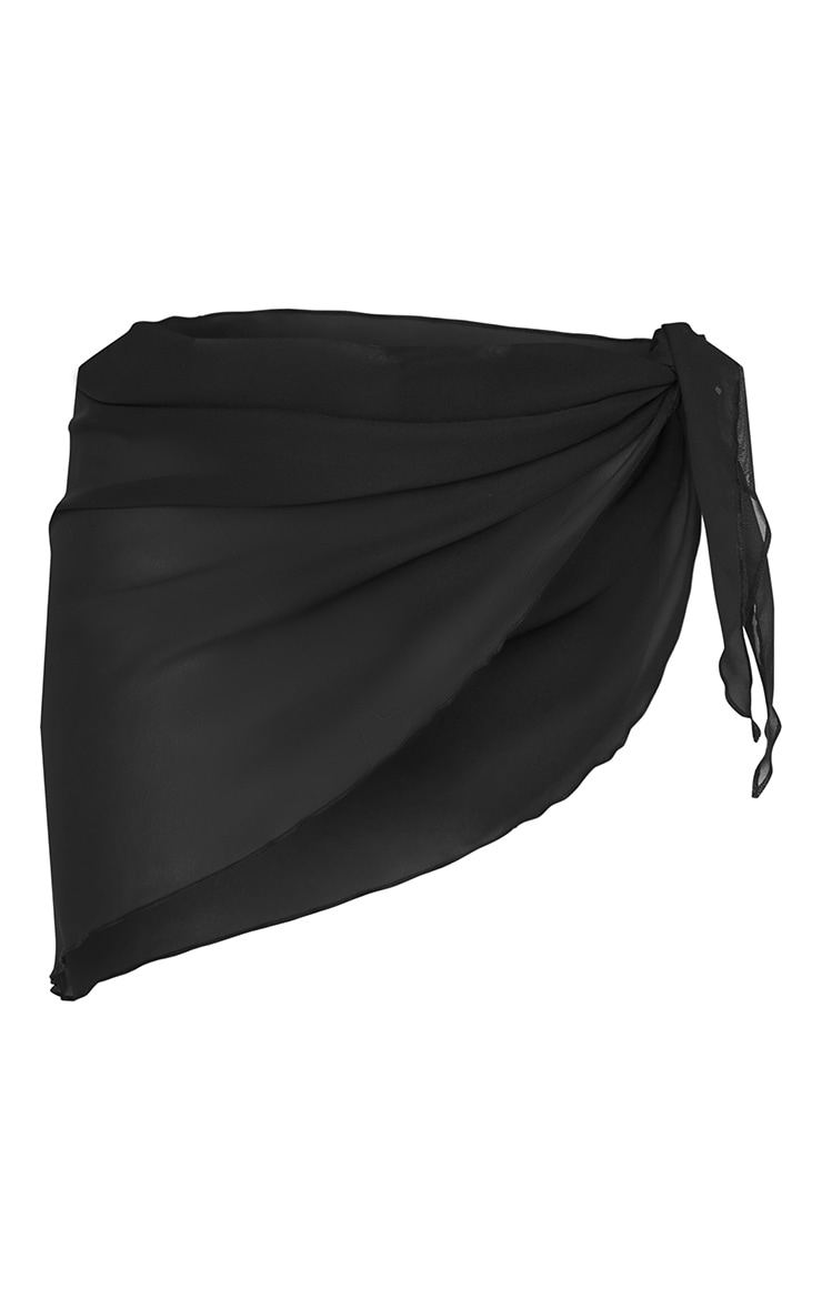 Black Tie Side Sarong 6
