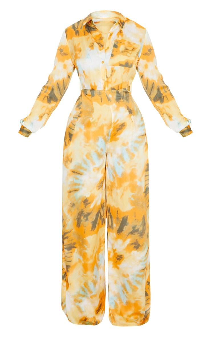 Orange Tie Dye Oversized Wide Leg Jumpsuit 3
