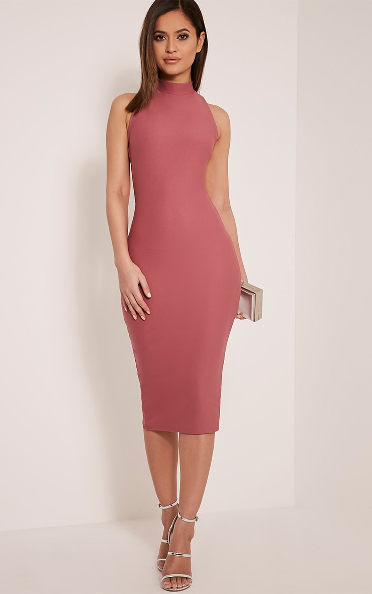 Clara Rose Double Cross Back Midi Dress 5