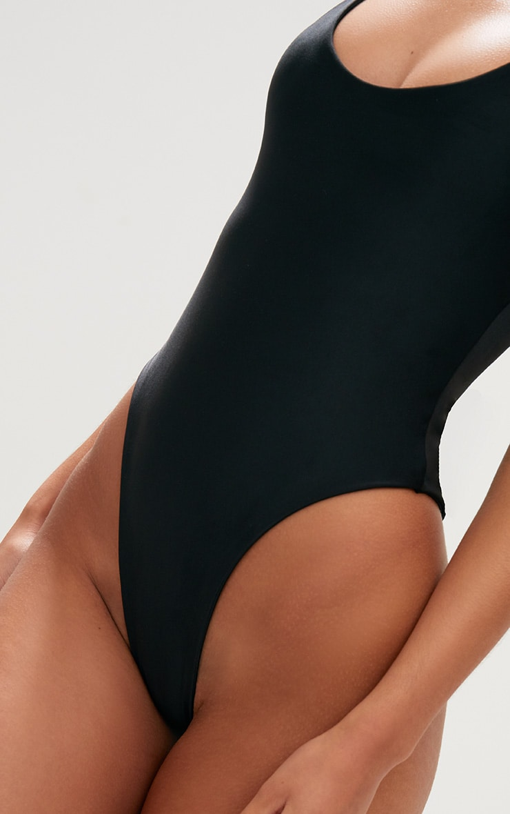 Black/White 2 Pack High Leg Swimsuit 6