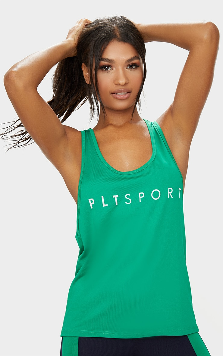 PLT Sport Green Drop Arm Hole Racer Vest 1