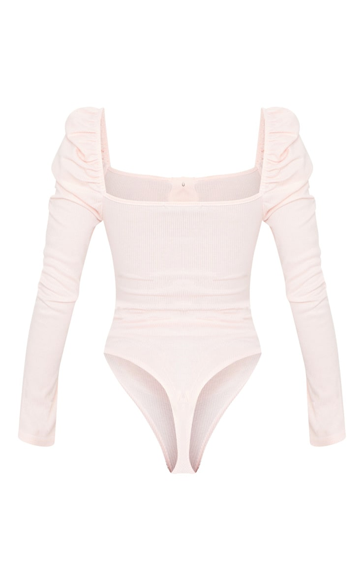 Blush Rib Puff Long Sleeve Bodysuit 6