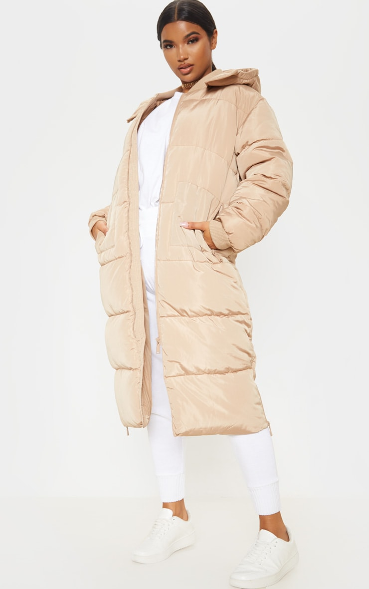 Stone Maxi Hooded Puffer  4