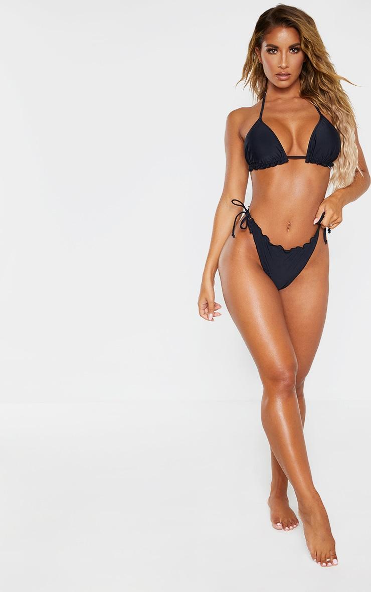 Black Frill Edge Padded Bikini Top 4