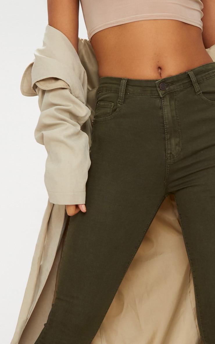 5 Pocket Khaki Skinny Jean 5