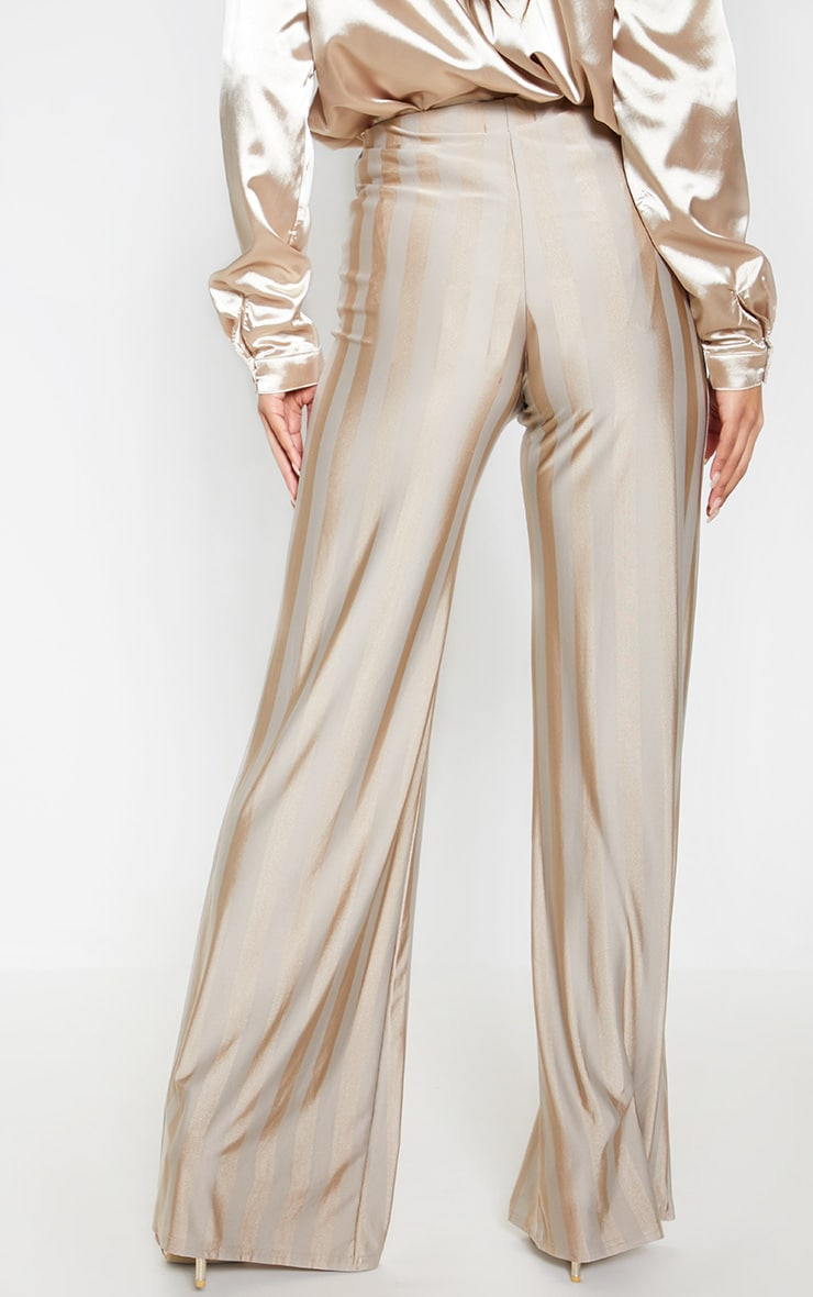 Stone Disco Stripe Casual Wide Leg Trouser 4