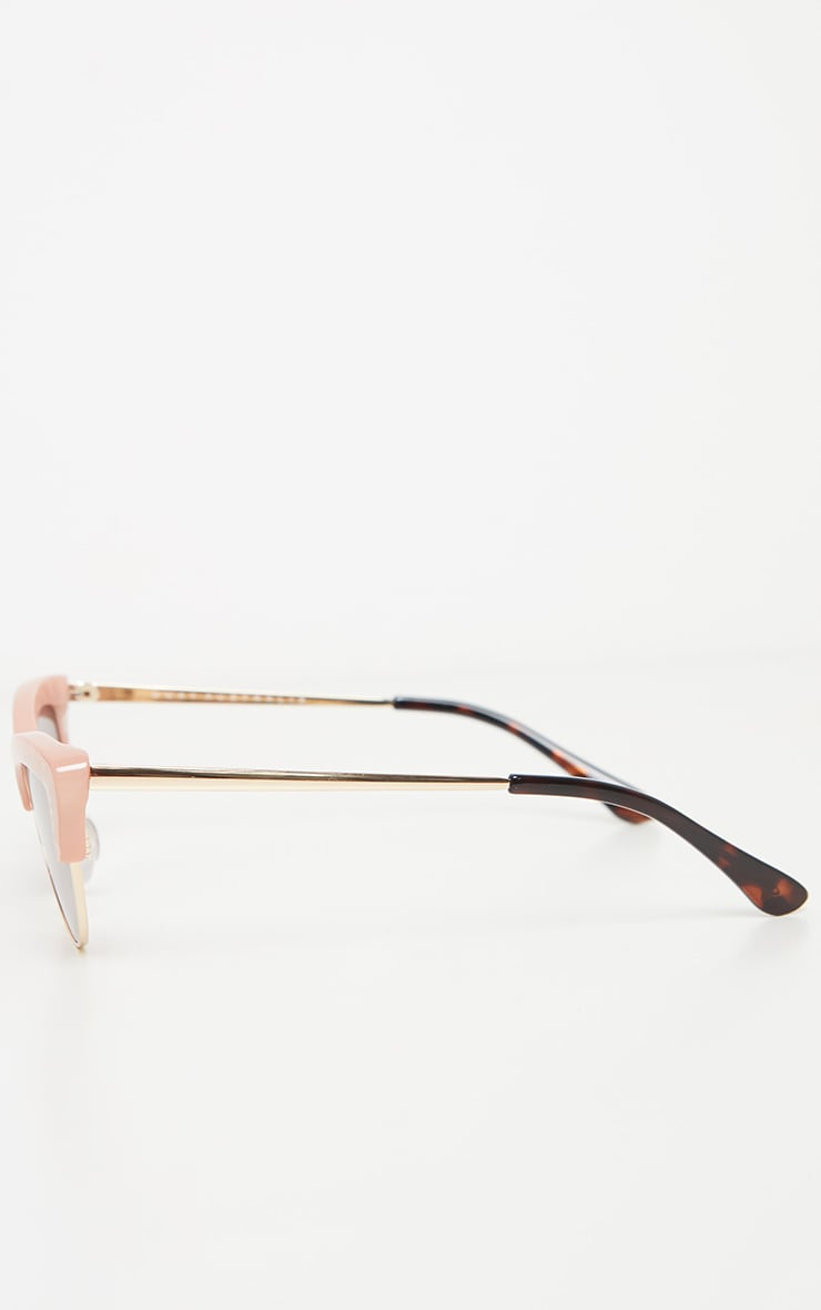 QUAY AUSTRALIA X FINDERS KEEPERS Peach Resin Frame Brown Lens Sunglasses 4
