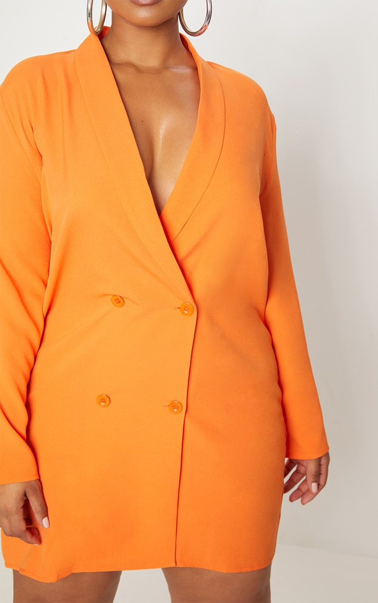 Plus Orange Oversized Blazer Dress 5