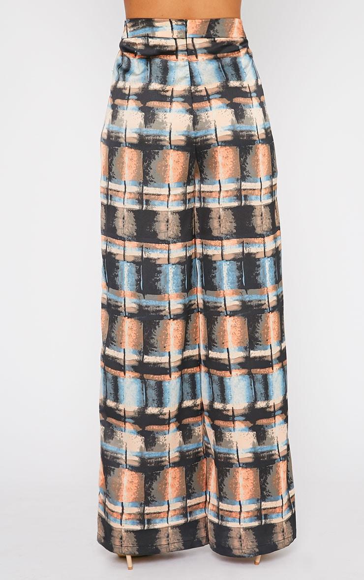Jennifer Abstract Print Silky Palazzo Trousers 4
