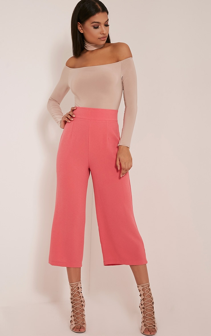 Tazmin Coral High Waisted Culottes 1