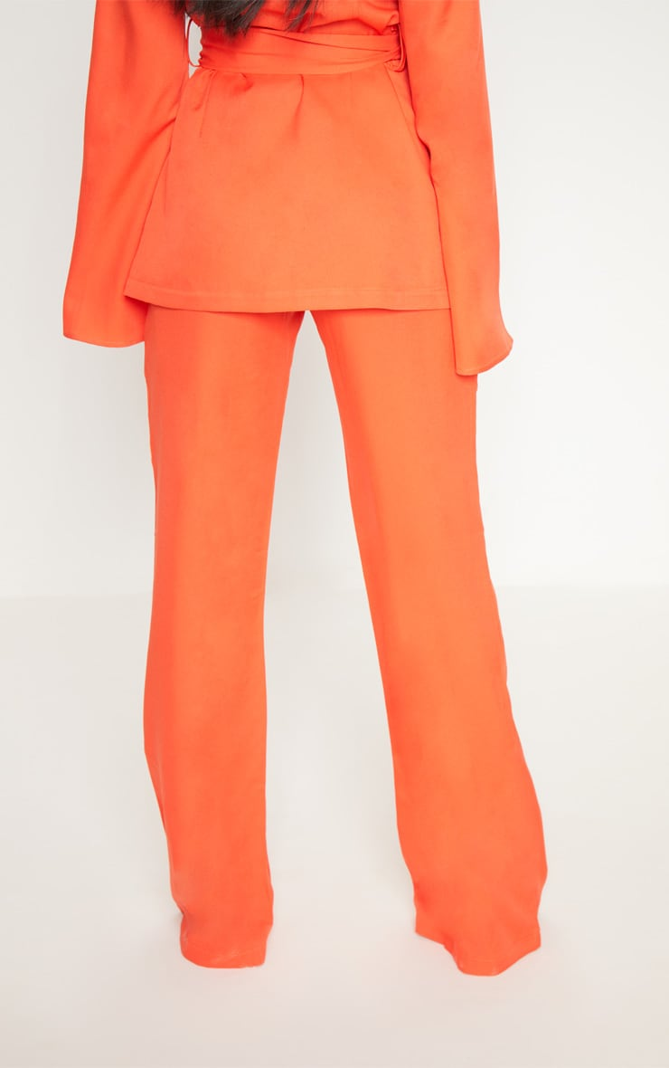 Petite Orange Wide Leg Suit Trousers 4