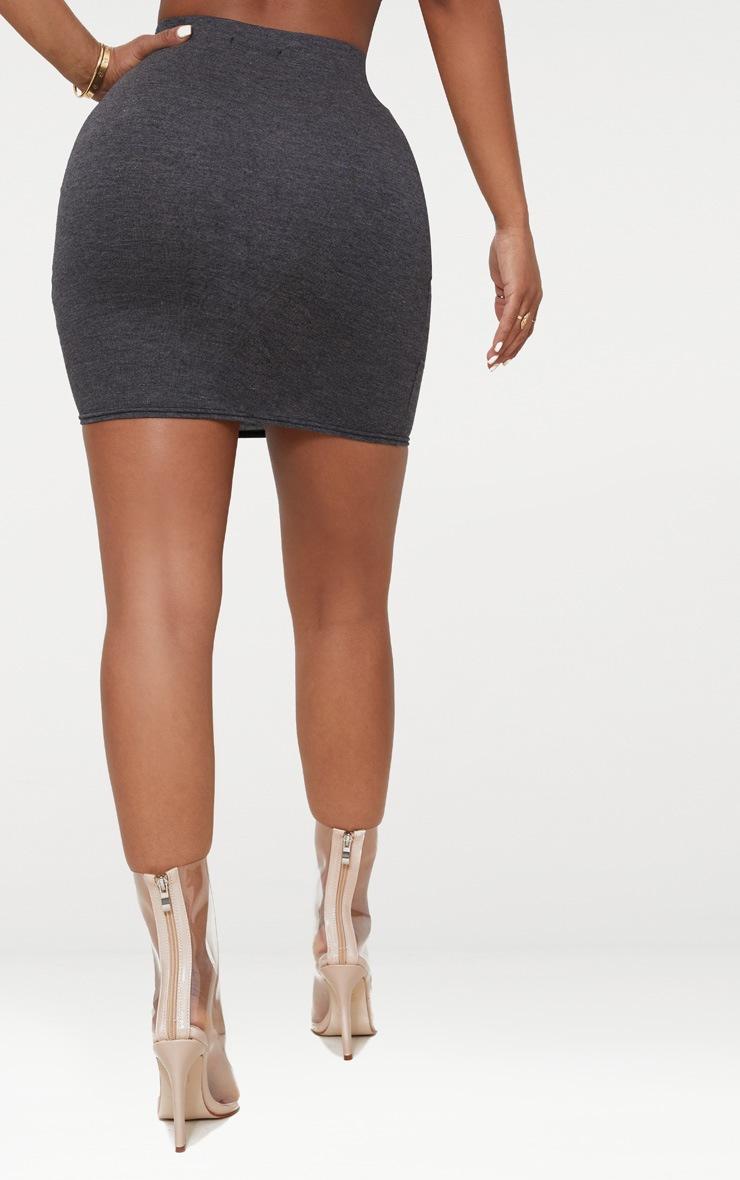 Charcoal Shape Jersey Bodycon Skirt 2