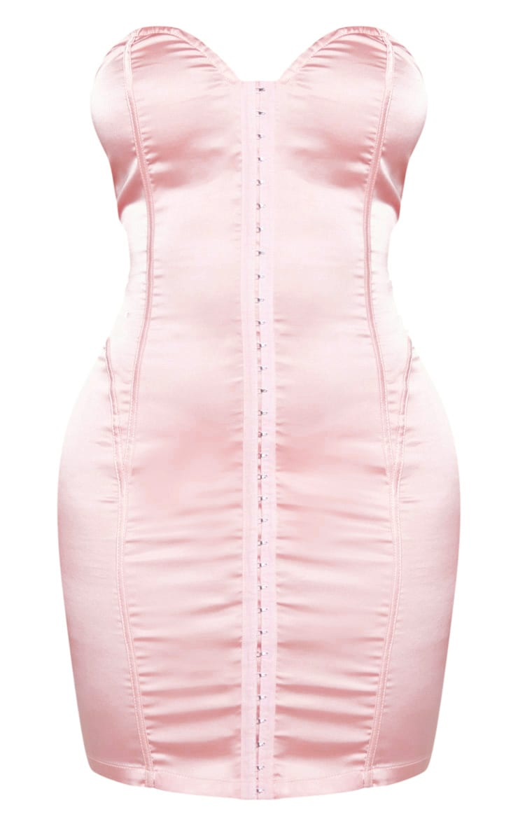 Shape Rose Sweetheart Hook And Eye Bodycon Dress 3