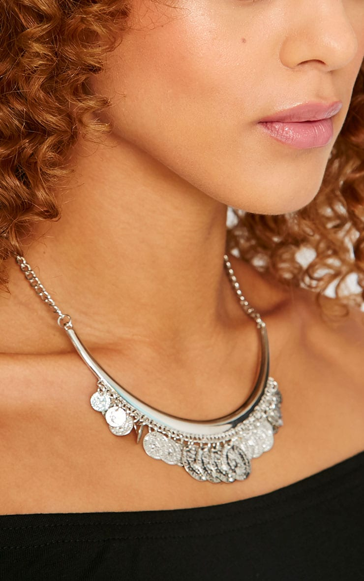 Laura Silver Coin Necklace 3