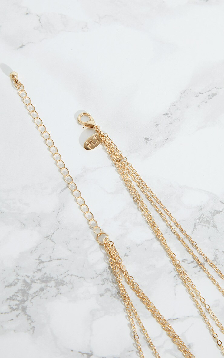 Gold Script Symbol Multi Layer Necklace 4