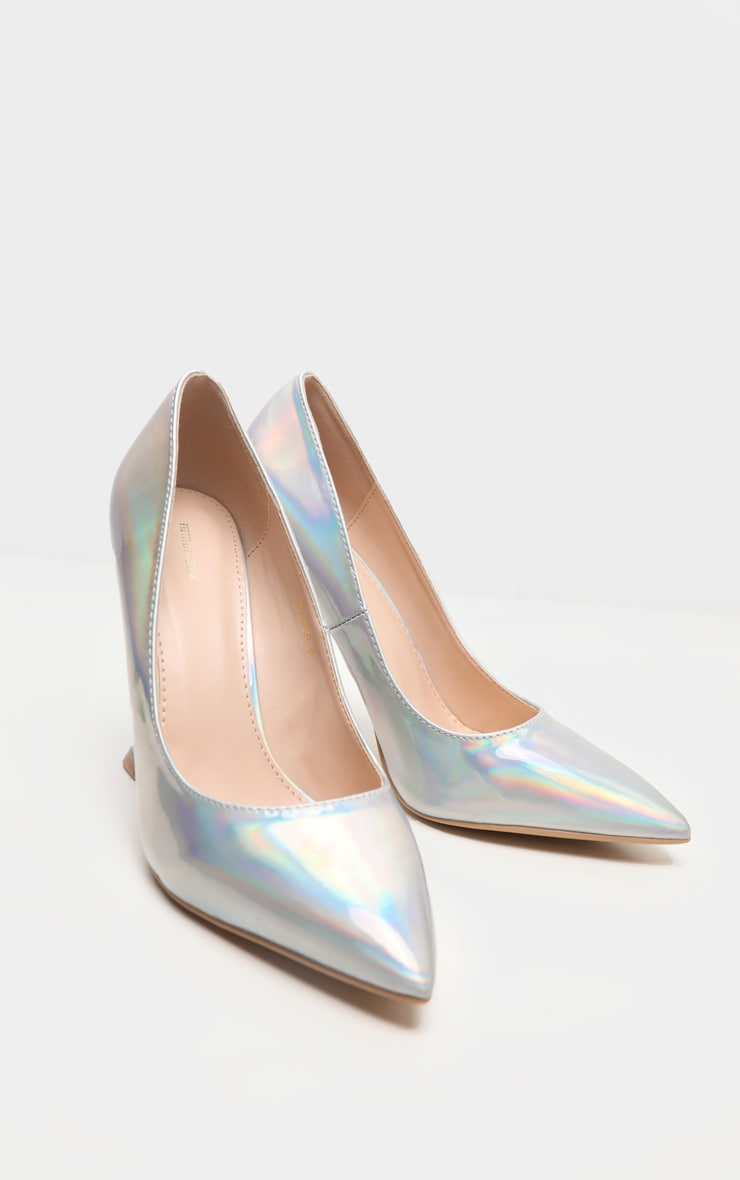 Holographic Cake Stand Heel Court Shoe 4