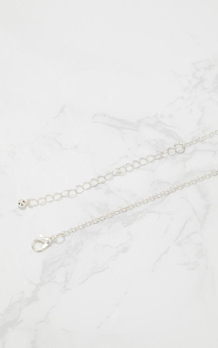 Silver Ancient Numerals Pendant Necklace 5