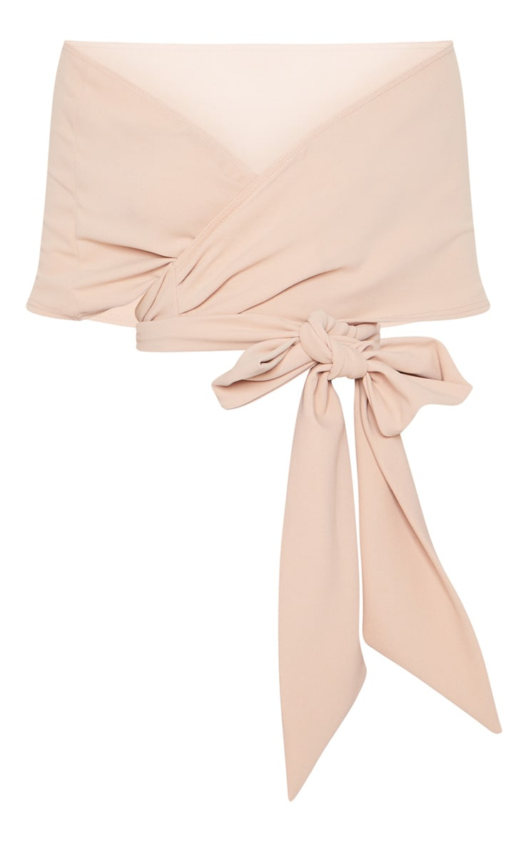 Dusty Pink Bandeau Wrap Front Crop Top 3