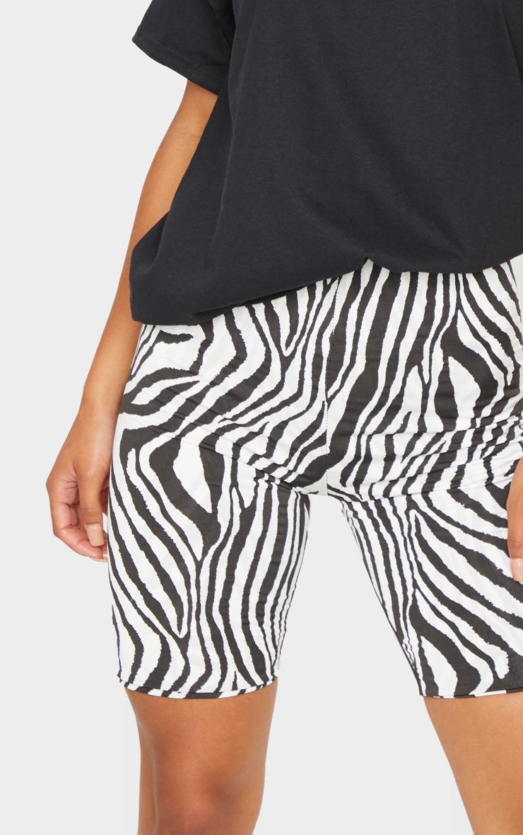 Black Zebra Slinky Bike Shorts 5