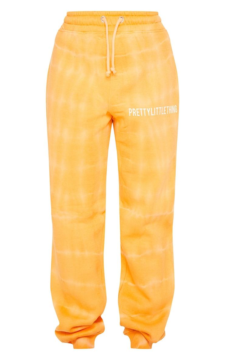 PRETTYLITTLETHING Orange Tie Dye Washed Joggers 6