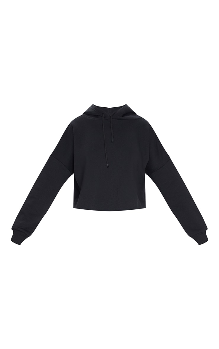 Black Ultimate Oversized Crop Hoodie 5
