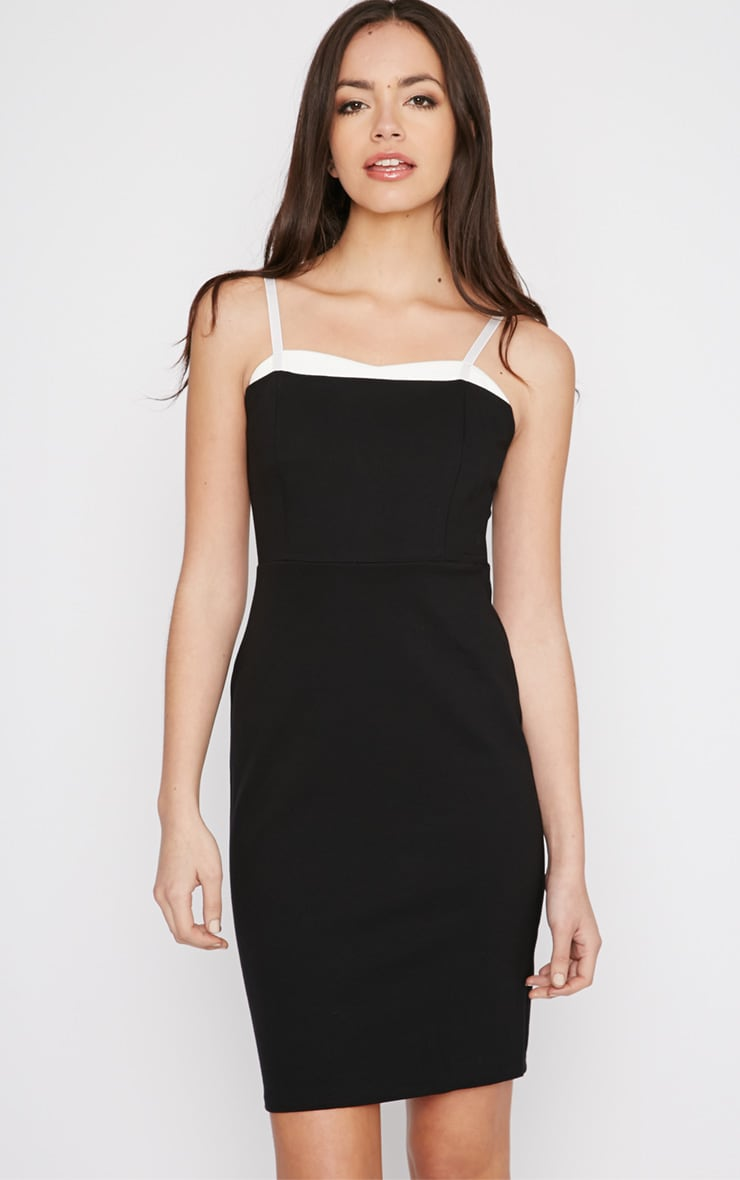 Sasha Black Strappy Bodycon Dress 1