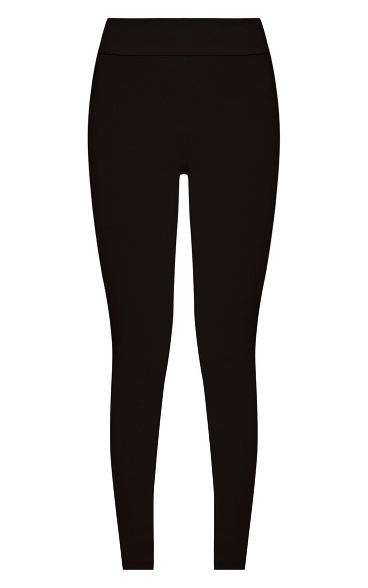 Kirsty Black Fine Ribbed Leggings 3