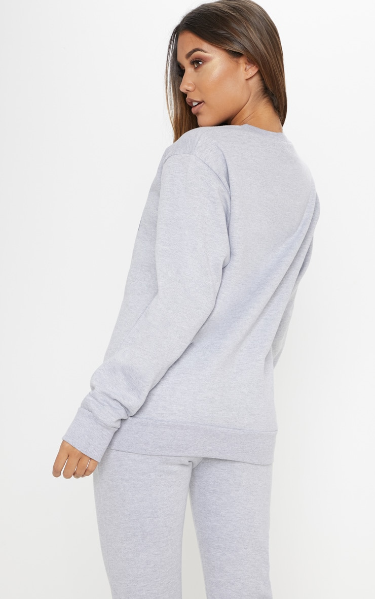 Grey Marl Chicago Sweater 2