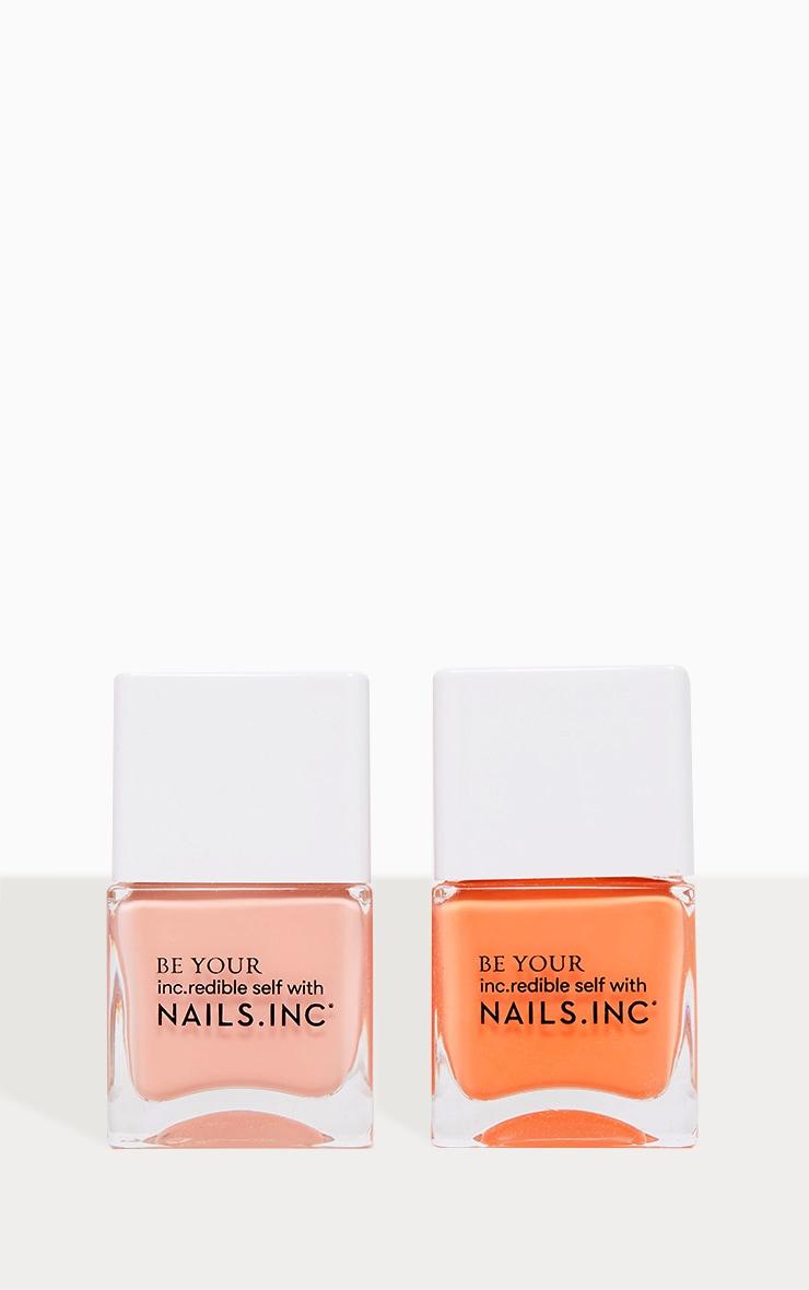Nails Inc Kiss My Peach Nail Polish Duo 2