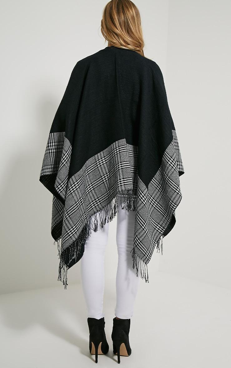 Mayra Tartan Monochrome Knitted Shawl 3