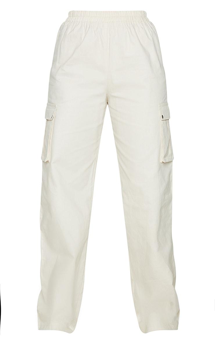 Cream Wide Leg Cargo Trousers 5