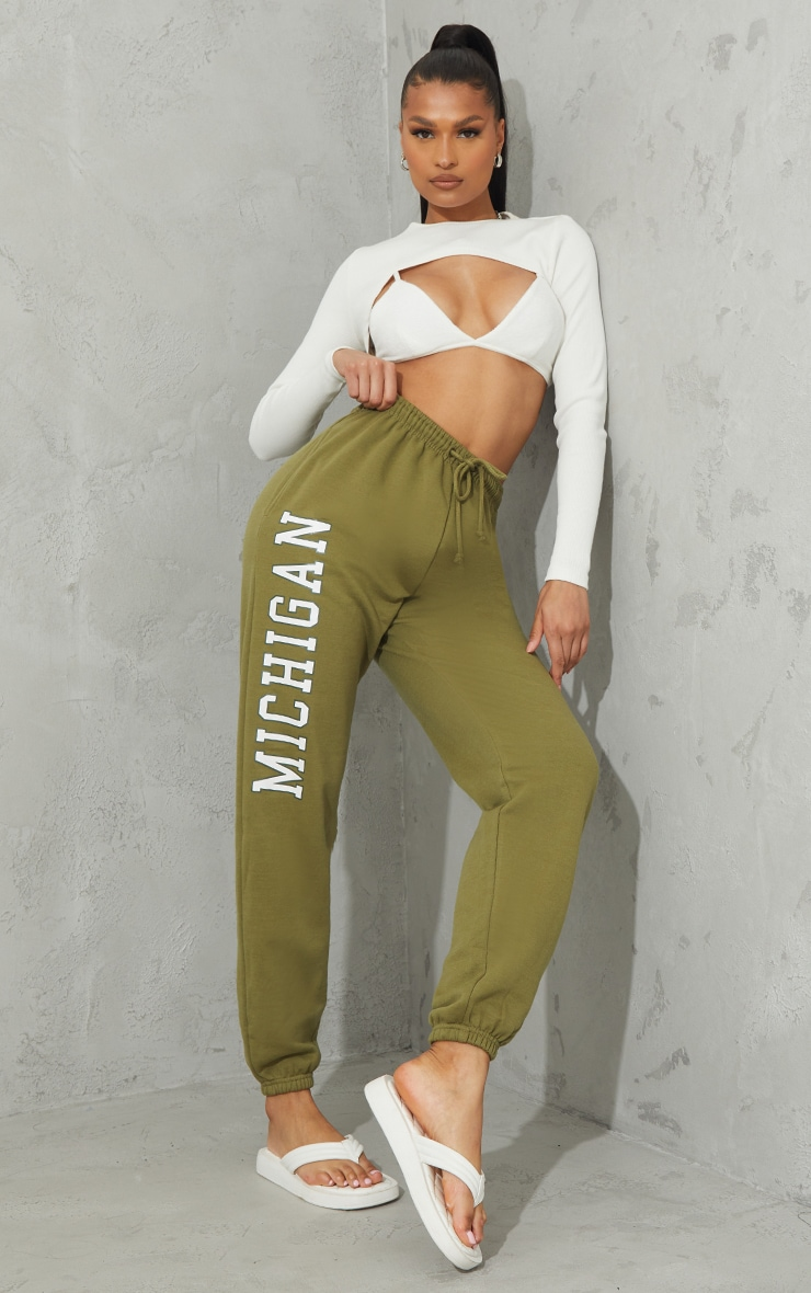 Pistachio Green Michigan Sweat Pant Joggers 1