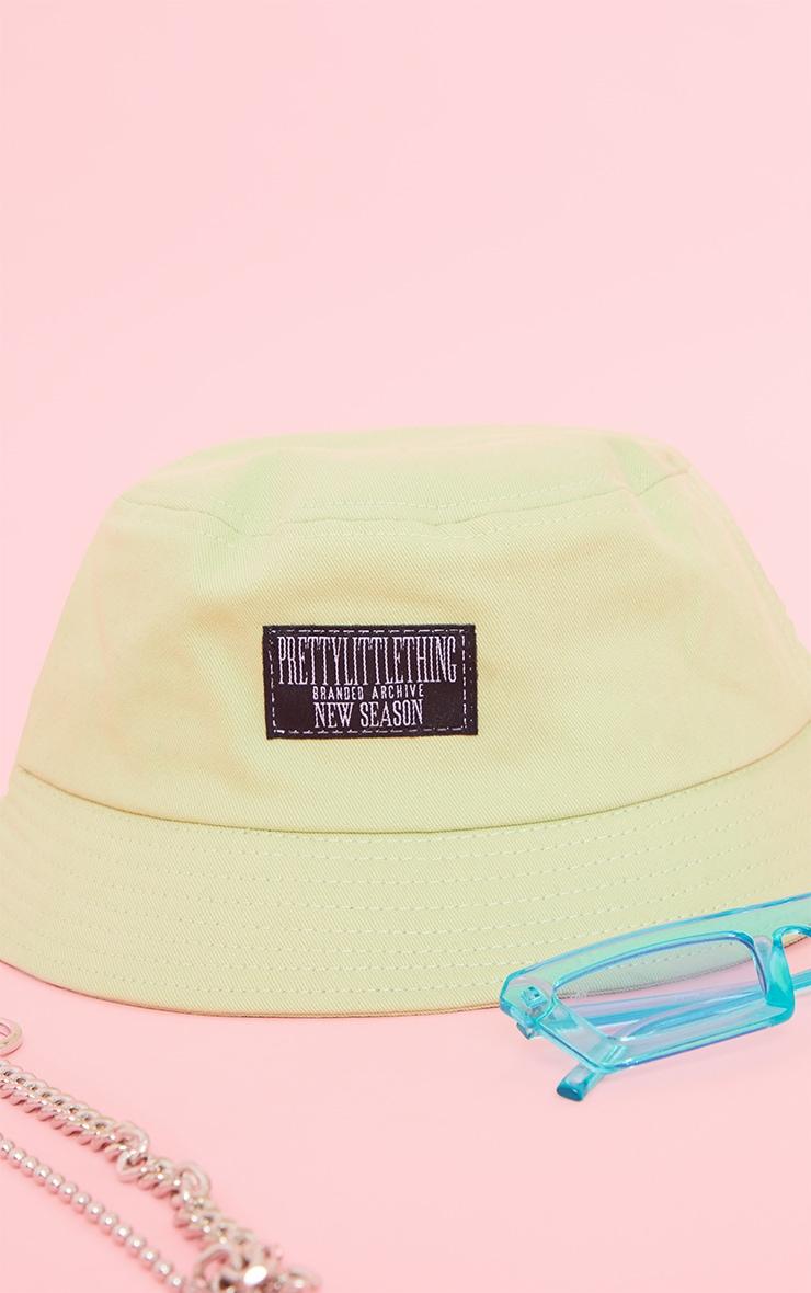 PRETTYLITTLETHING Green Bucket Hat 3