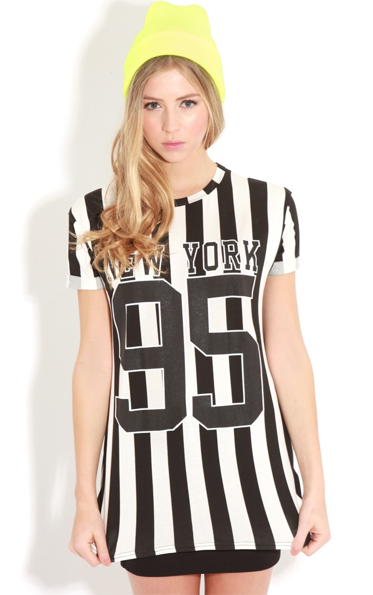 Alba Black Stripey New York 95 Tee  1