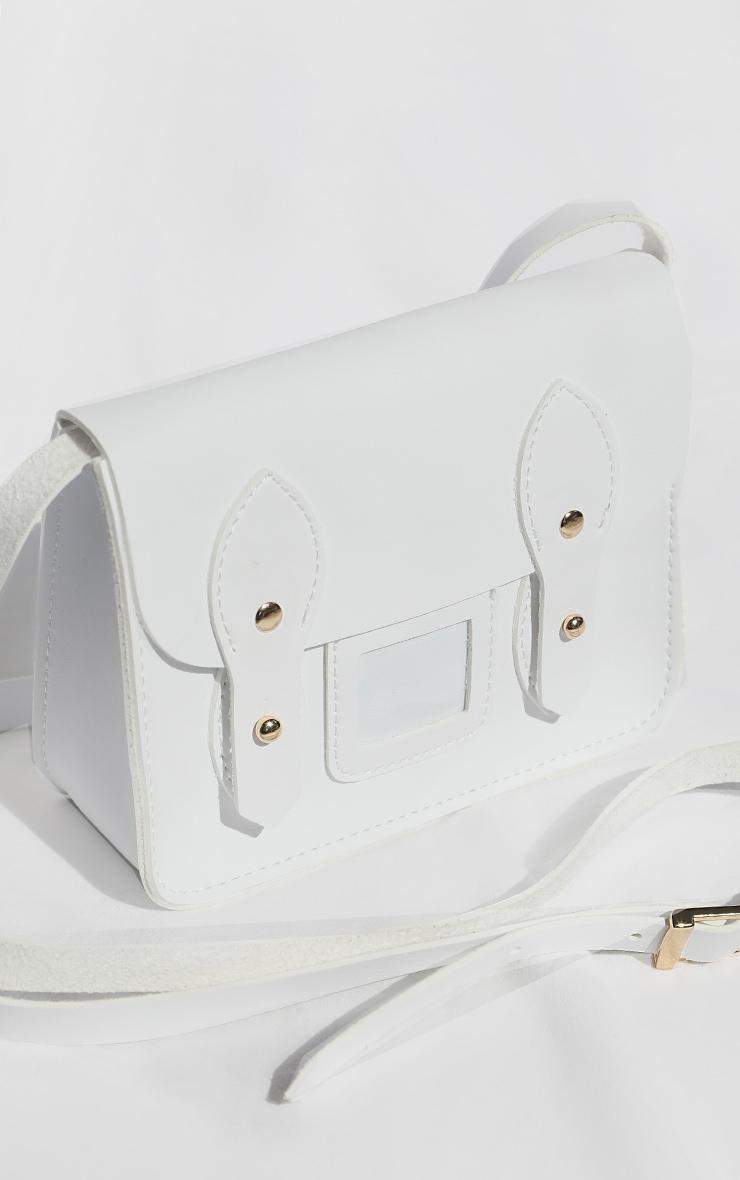 White Mini Satchel Cross Body Bag 2