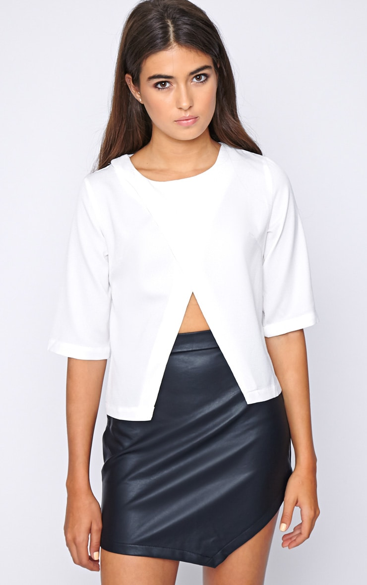 Sarah White Cut Out Tee  3