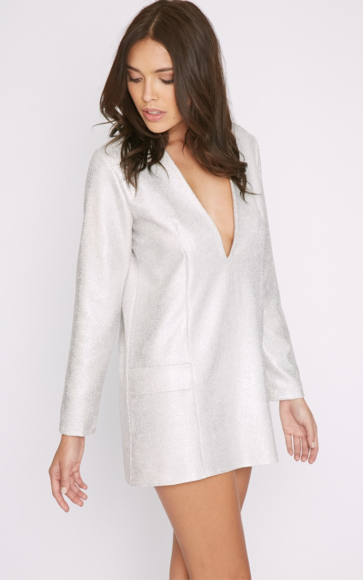 Jemima Silver Iridescent Blazer Dress 3
