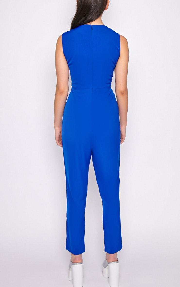 Skye Cobalt V Front Tailored Jumpsuit  2