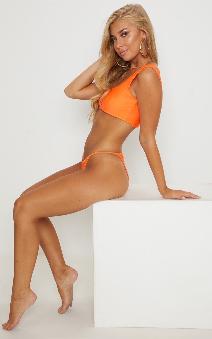 Orange Mix & Match Itsy Bitsy Bikini Bottom 5