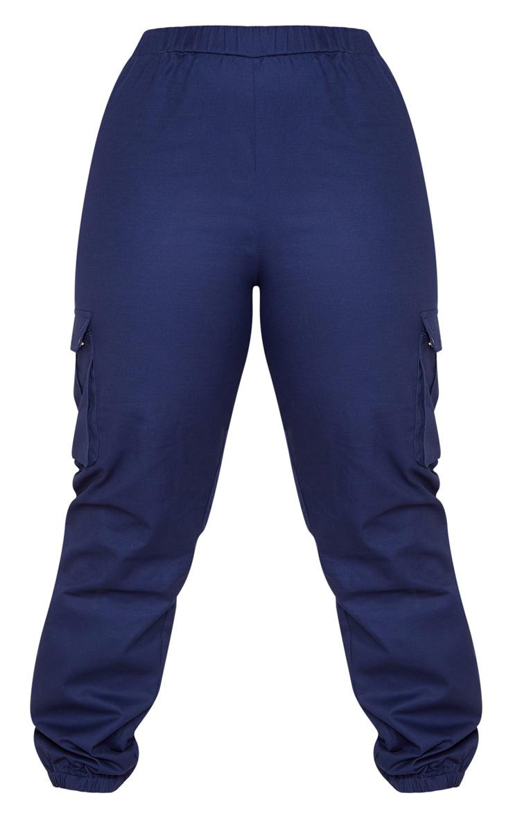Plus Navy Cargo Pants   3